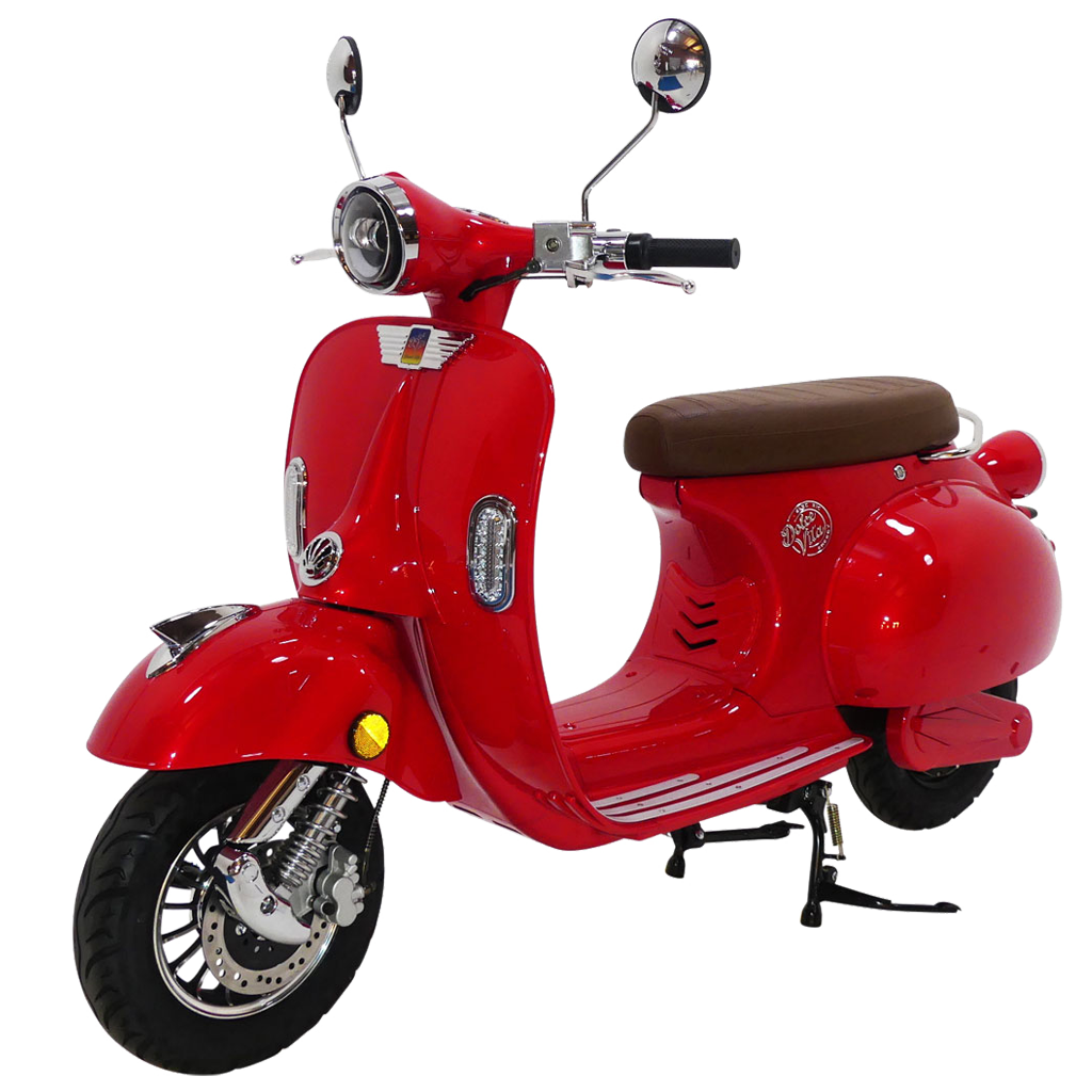 Red Dolce Vita Electric Motor Scooter