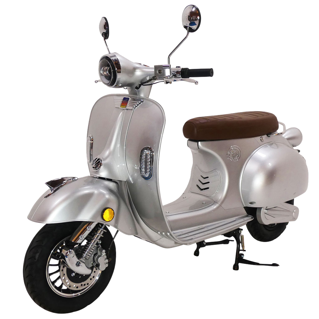 Silver Dolce Vita Electric Motor Scooter