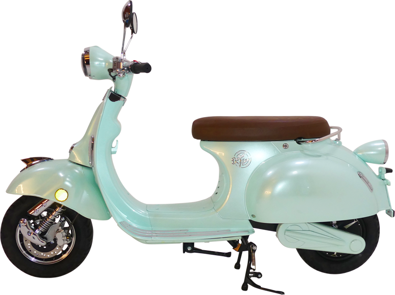 Green-Electric-Motor-Scooter-DolceVita-Portofino-SideAngle