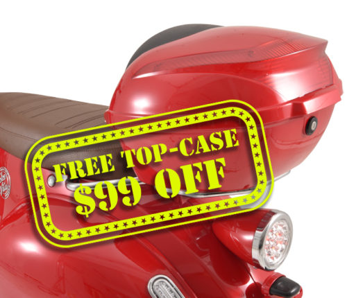 Red Top Case for Dolce Vita Electric Motor Scooter